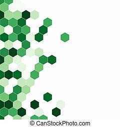 composé, isométrique, proportion, geometry., 1:1, granuleux, colorful., hexagones, arrière-plan., aspect, modèle, rayon miel