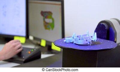 composants, laser, balayage, scanner, production, utilisation, 3d