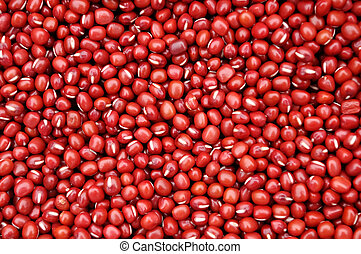 red beans - Composed of a lot of red beans red background
