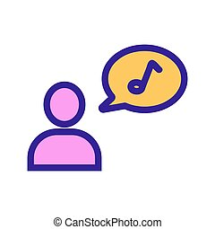 composer icon vector. Isolated contour symbol illustration
