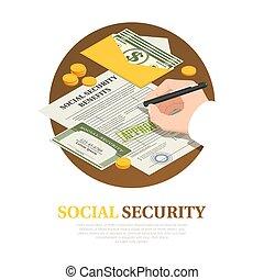 composición, beneficios, isométrico, seguridad, social
