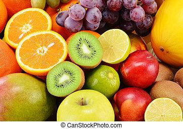 composición, con, variedad de frutas