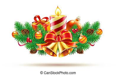 composición, decorativo, navidad