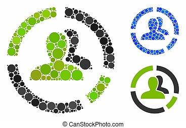 composición, diagrama, círculos, demography, icono
