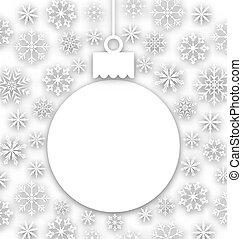 composición, excepcional, saludo, papel, tarjeta de navidad
