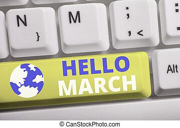 composición, plano de fondo, teclado, pc, nota, march.,...