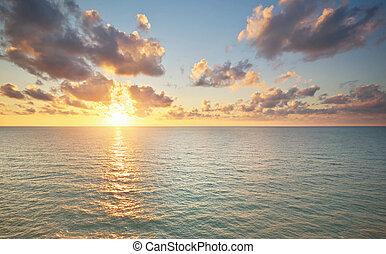 composición, Vista marina, naturaleza