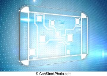 composiet, interface, beeld, technologie