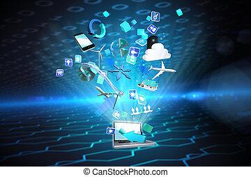 composiet, toepassingen, beeld, computer