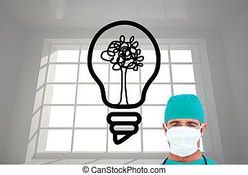 composiet, verticaal, beeld, chirurg, ambitieus