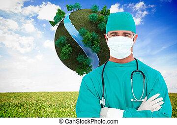 composiet, verticaal, chirurg, ambitieus, beeld