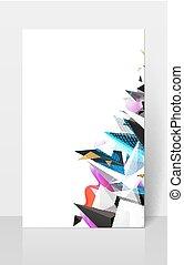 composision., astratto, moderno, fondo., geometrico, triangoli