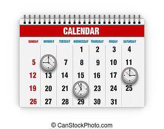 composite, calendrier, cadran