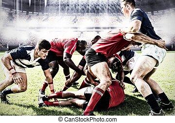 composite, chaque, gagner, rugby, numérique, empoigner, ...