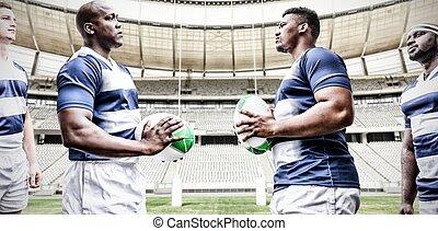 composite, chaque, tenue, rugby, image numérique, équipe, ...