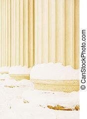 Composite Greek Style Columns In Winter