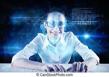 composite image, i, businesswoman