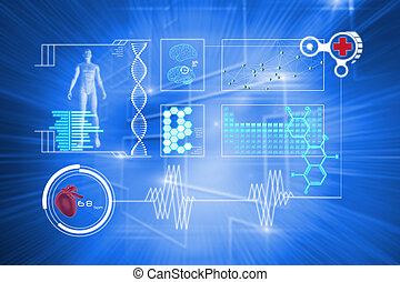 composite image, i, medicinsk, grænseflade