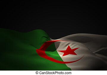 Composite image of algeria flag waving