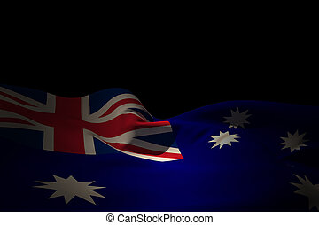 Composite image of australia flag waving