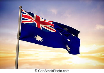 Composite image of australia national flag