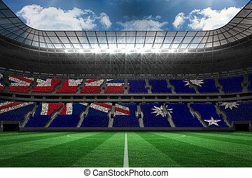 Composite image of australian flag - Australian flag against...