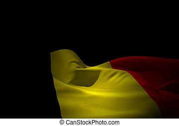 Composite image of belgium flag waving