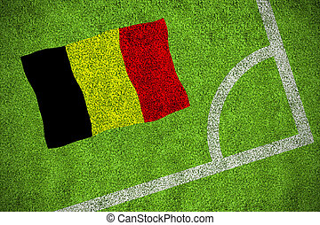 Composite image of belgium national flag