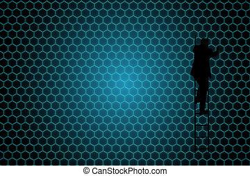 Composite image of black background