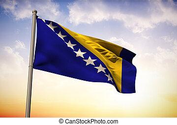 Composite image of bosnia national flag