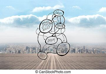 Composite image of brainstorm doodle
