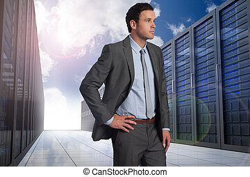 Composite image of businessman with