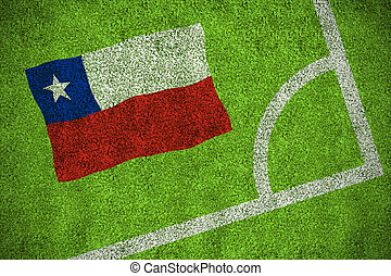 Composite image of chile national flag