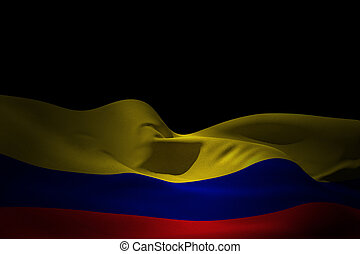 Composite image of colombia flag waving