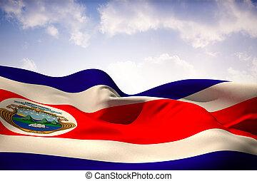 Composite image of costa rica flag waving - Costa rica flag...