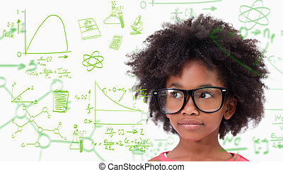 Composite image of cute pupil wearing glasses - Cute pupil...