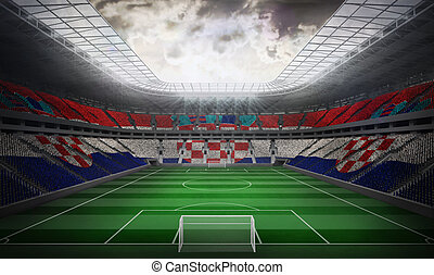 Composite image of digitally generated croatia national flag