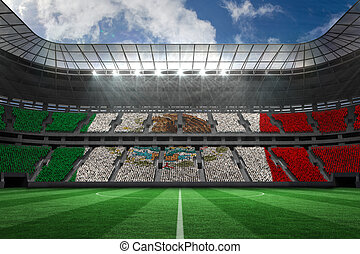 Composite image of digitally generated mexican national flag...