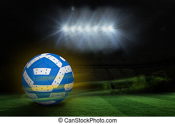 Composite image of football in honduran colours - Football...