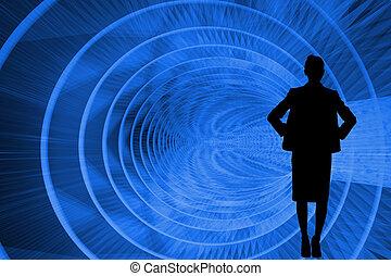 Composite image of futuristic blue design
