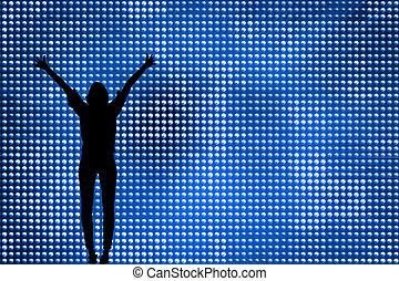 Composite image of futuristic shiny background