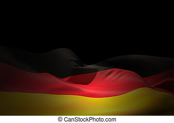 Composite image of germany flag waving