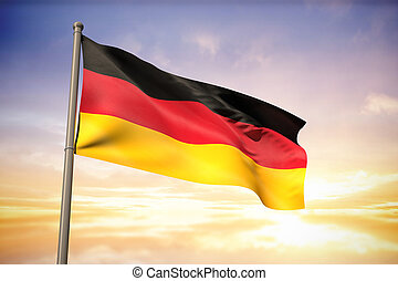 Composite image of germany national flag - Germany national...