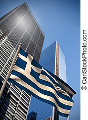 Composite image of greece national flag