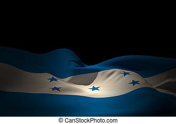 Composite image of honduras flag waving