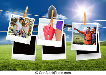 Composite image of instant photos