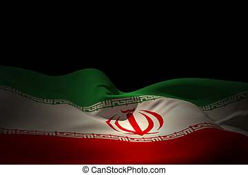 Composite image of iran flag waving