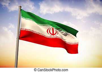 Composite image of iran national flag