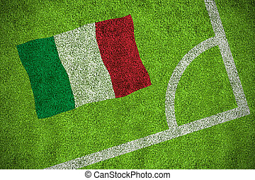Composite image of italy national flag