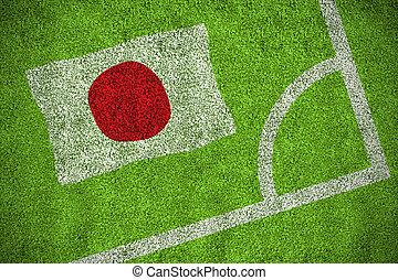 Composite image of japan national flag